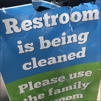 Janitorial Cart Restroom Closed Sign