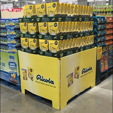 Ricola Cough Drop Pallet Merchandising 3
