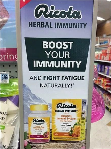Ricola Herbal Immunity Wingwall Sidekick