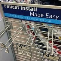 Slatwire Loop Hook Provides Faucet Hang