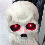 Three Stacked Skulls With Glaring Eyes
