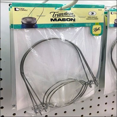 Transform Mason Jars Wire Handle by Scan Hook