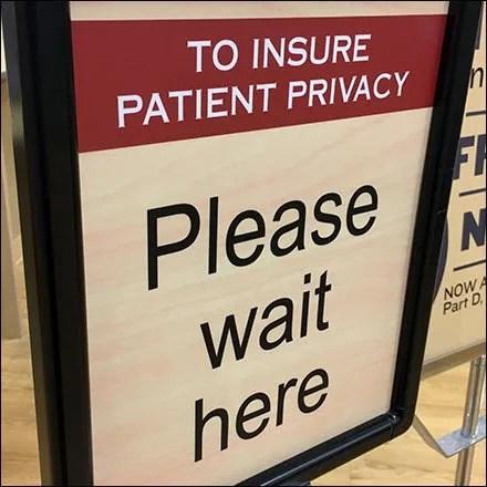 Wait Here For Flu Shot Queue Management