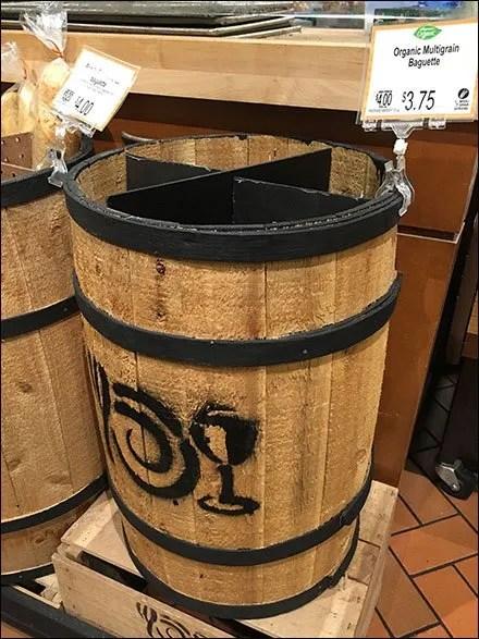 Barrel Masonite Dividers for Bakery Display