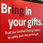 Bring In Your Gifts Dimensional Sign at UPS