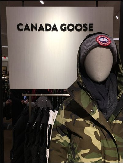 Canada Goose Mannequin On Standby Alert