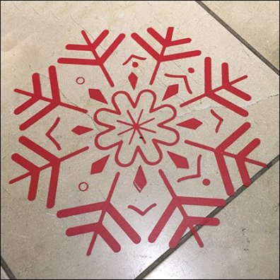 Christmas Snowflakes Floor Graphics Festivities