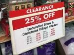 Discount Christmas Village Merchandising