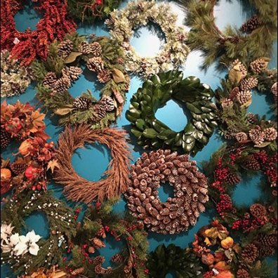 Wall of Wreaths Christmas Holiday Celebration