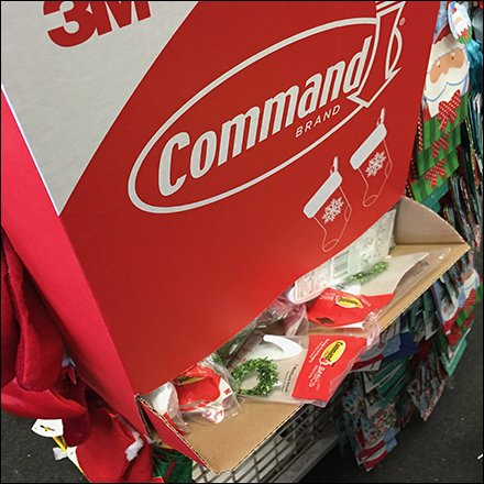 Command Strip Christmas Stocking Gravity Feed