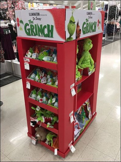 Grinch Plush Tower Dr Seuss Display