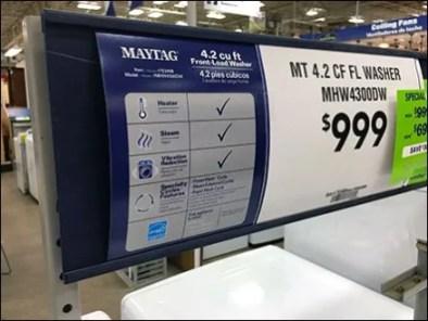 Appliance Eye-Level Sign Channel