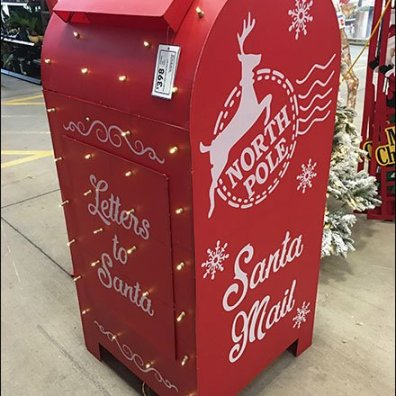 Full-Size Santa's Mailbox Escapes Macys