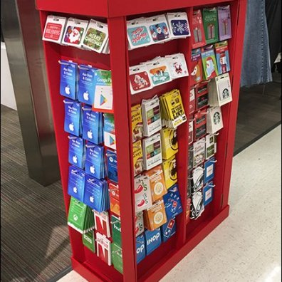 Half-Height Gift Card Corrugated Display