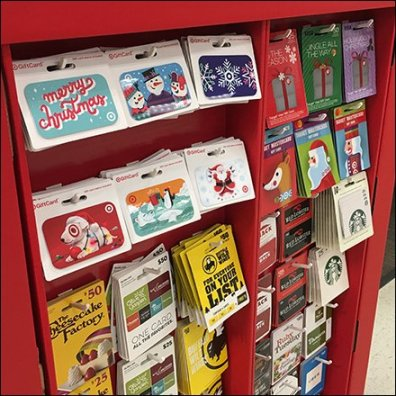 Half-Height Gift Card Corrugated Display Feature