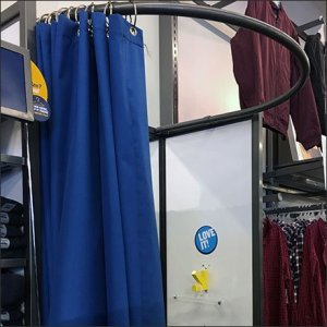 Informal Drape Fitting Room Pop-Up Addition