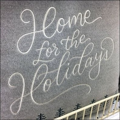 Handmade Holiday Header For Pillow Display
