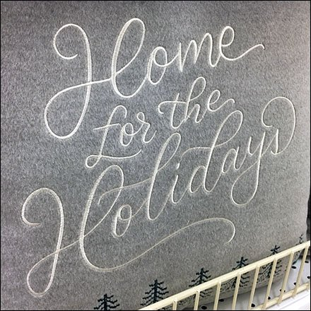 Handmade Holiday Header For Pillow Display