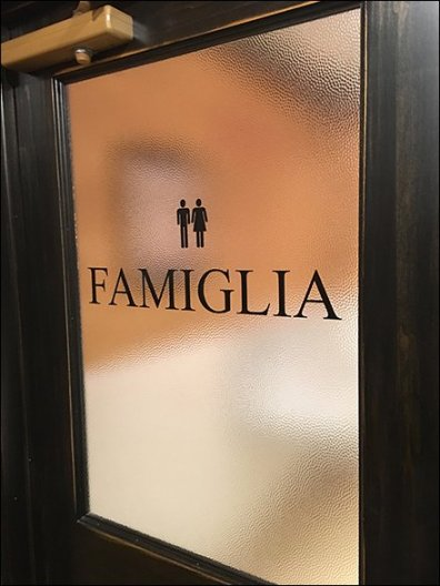 Italian Language Restroom Gender Signs