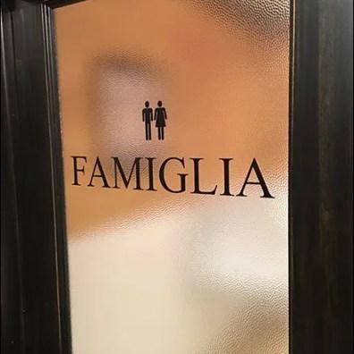 Italian Language Restroom Gender Signs