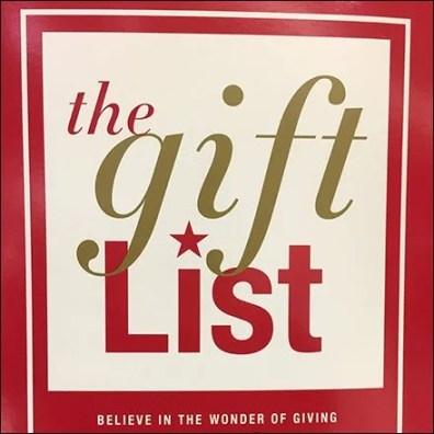Macy's Itemized Gift List Apparel Display