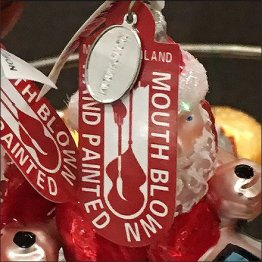 Mouth Blown City Bus Christmas Ornaments Detail