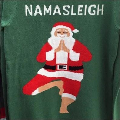 Festive Namasleigh Yoga Christmas Apparel