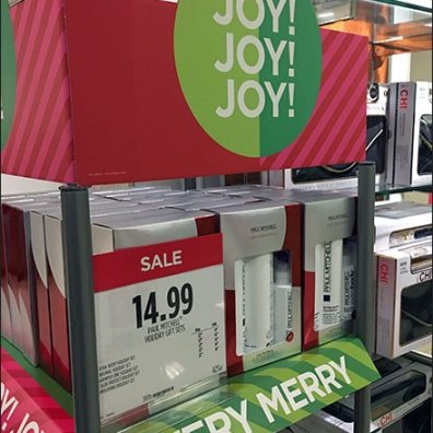 Paul Mitchell Christmas Joy Salon Display 1