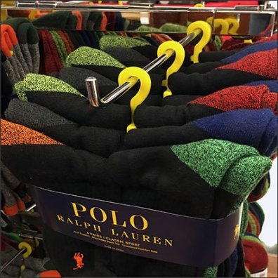 Polo Ralph Lauren Yellow Sock Hangers