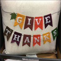 Thanksgiving Pillow Promotion Point-of-Purchase Main Feature