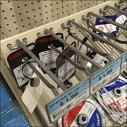 Pulley, Belt, And Spacer Extender Merchandising