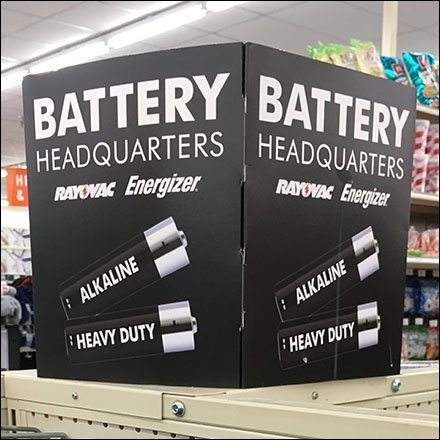 Battery Headquarters Island Display At Big Lots Feature
