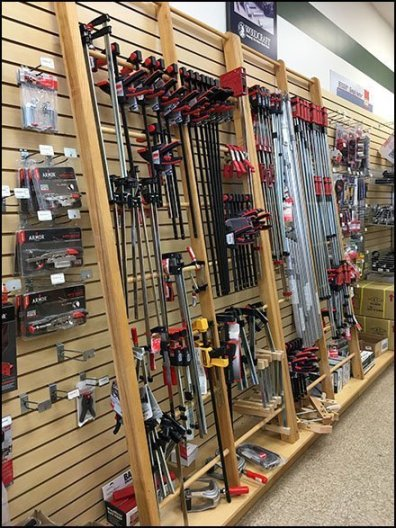 Clamp and Guide Hangrail Merchandising