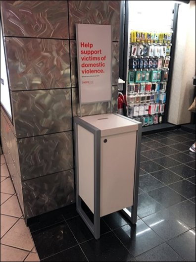 Domestic Violence Cellphone Donation Box