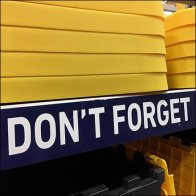Don't Forget Your Lid Shelf Edge Entreaty