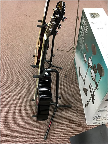 Acoustical Guitar Floor Stand Merchandising