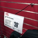 Guitar Center Lightweight Slatwall Sign Holder