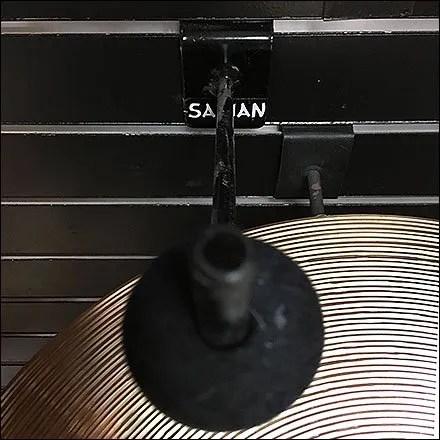 Guitar Center Musical Cymbal Slatwall Display Hook Detail Aux