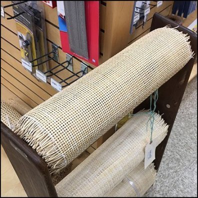 How To Merchandise Chair Caning Material Rolls Feature