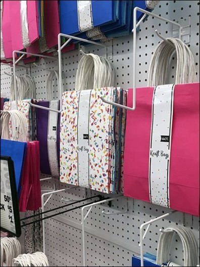 Kraft Gift Bag Pegboard Waterfall Hooks 2