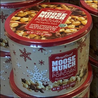 Moose Munch Popcorn Drum Merchandising