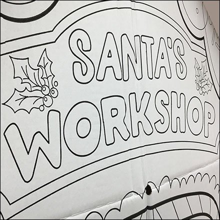 Santa's Workshop Corrugated Playhouse Display