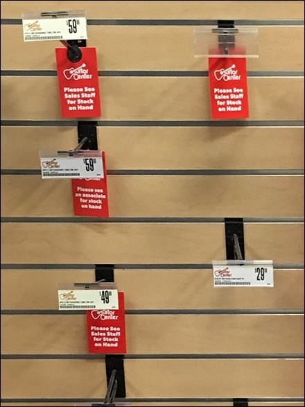 See Sales Staff for Stock On Hand Tag