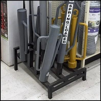 Spring-Loaded Post Driver Floor Display