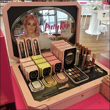 Too Faced Pretty Rich Suitcase Display