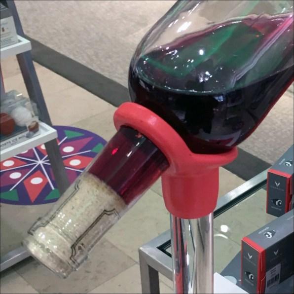 Inverted Wine Bottle Coravin Elite Display