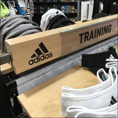 Adidas Wood Bar-Mount Training Sign