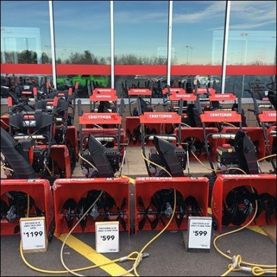 Winter Snow Blower Lineup At Lowes