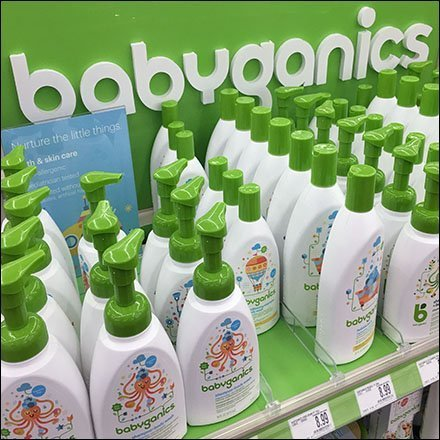 Babyganic Branded Green Endcap Display Feature