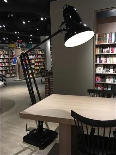 Giant Desk Lamp as Bookstore Floor Lamp